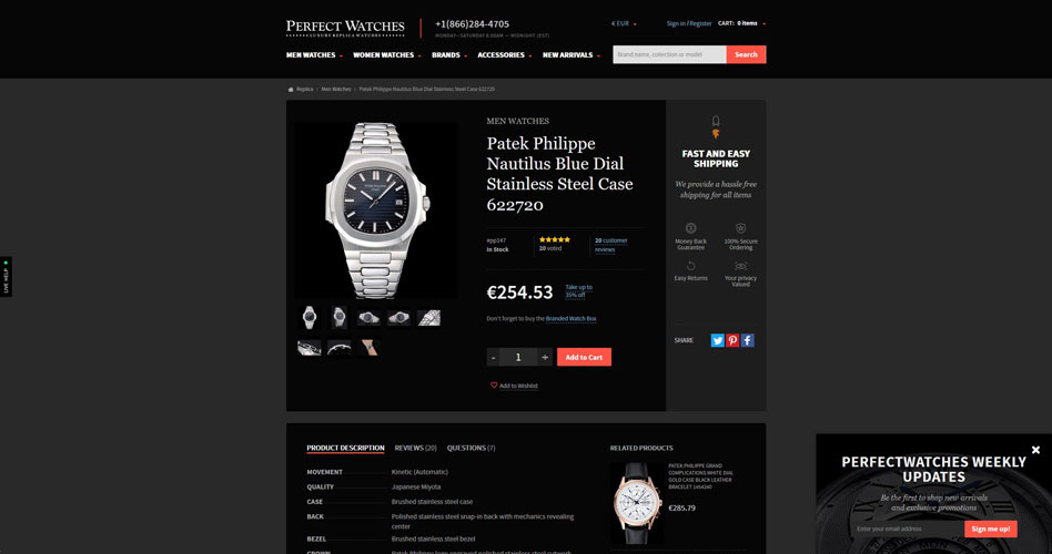 PerfectWatches.to Replica Site Review